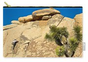 Climber At Quail Springs In Joshua Tree Np-ca Carry-all Pouch