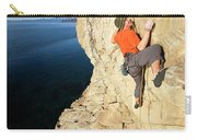 Climber Reaches For Hand Hold Carry-all Pouch