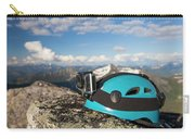 Climbing Helmet With Camera On Mountain Carry-all Pouch