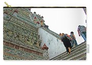 Climbing Many Steps At Temple Of The Dawn-wat Arun In Bangkok-th Carry-all Pouch
