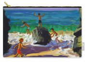 Climbing Rocks Porthmeor Beach St Ives Carry-all Pouch by Andrew Macara