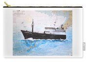 Clipper Epic Longline Fishing Boat Nautical Chart Map Art Carry-all Pouch