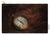 Clock - Time Waits Carry-all Pouch by Mike Savad