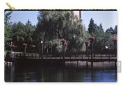 Clock Tower At Riverfront Park Carry-all Pouch