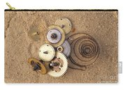 Clockwork Mechanism On The Sand Carry-all Pouch