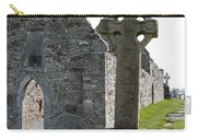 Clonmacnoise Cathedral  And High Cross Ireland Carry-all Pouch