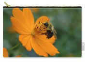 Close Up Bee Feeding On Orange Cosmos Carry-all Pouch