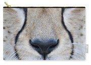 Close-up Of A Cheetah Acinonyx Jubatus Carry-all Pouch