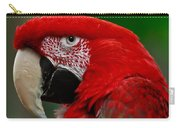 Close Up Of A Gorgeous  Green Winged Macaw Parrot. Carry-all Pouch
