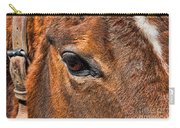 Close Up Of A Horse Eye Carry-all Pouch by Paul Ward