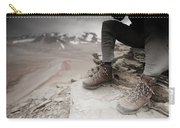 Close Up Of A Mountaineers Windblown Carry-all Pouch