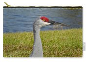 Close Up Of A Sandhill Crane Carry-all Pouch