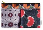 Close Up Of Colorful Khangas For Sale Carry-all Pouch
