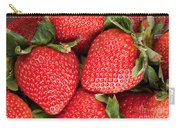 Close Up Of Delicious Strawberries Carry-all Pouch