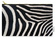 Close-up Of Greveys Zebra Stripes Carry-all Pouch
