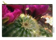 Close Up Of Pink Cactus Flowers Carry-all Pouch