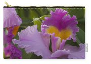 Close-up Of Purple Orchid Flowers Carry-all Pouch