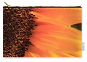 Close Up Of The Florets And Petals Of A Sunflower Carry-all Pouch