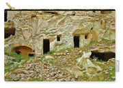 Close-up Of Tufa-carved Homes In Cappadocia-turkey Carry-all Pouch