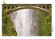 Close Up View Of Multnomah Falls In The Columbia River Gorge Of Oregon Carry-all Pouch