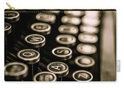 Close Up Vintage Typewriter Carry-all Pouch by Edward Fielding