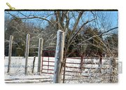 Closed Gate In Winter  Carry-all Pouch