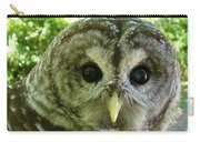 Closeup Of A Barred Owl Carry-all Pouch