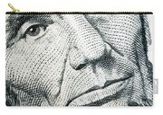 Closeup Of A Five Dollar Bill Carry-all Pouch