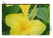 Closeup Of A Tropical Yellow Canna Lily Carry-all Pouch