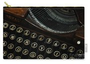 Closeup Of Antique Typewriter Carry-all Pouch