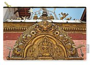 Closeup Of Carving Over Door In Bhaktapur Durbar Square In Bhaktapur-nepal Carry-all Pouch