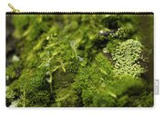 Closeup Of Moss And Lichen. Rhoen Carry-all Pouch