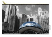 Cloud Gate B-w Chicago Carry-all Pouch by David Bearden