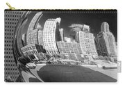 Cloud Gate Bean Black And White Carry-all Pouch