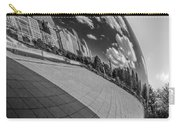 Cloud Gate Teardrop Black And White Carry-all Pouch