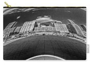 Cloud Gate Under The Bean Black And White Carry-all Pouch