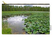 Clouds Among The Lily Pads In Swan Lake In Grand Teton National Park-wyoming  Carry-all Pouch