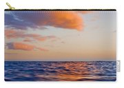 Clouds At Sunset - Racing Across The Water At Sunset Carry-all Pouch