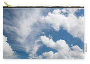 White Cirrus And Cumulus Clouds Formation Mix Carry-all Pouch