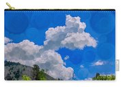 Clouds Loving A Friendly Mountain Landscape Painting Carry-all Pouch