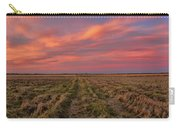 Clouds Over Landscape At Sunset Carry-all Pouch