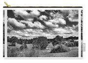 Cloudy Countryside Collage - Black And White Carry-all Pouch