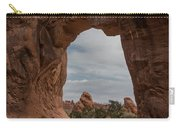 Cloudy Day At Pine Tree Arch Carry-all Pouch