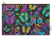 Cloured Butterfly Explosion Carry-all Pouch