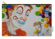 Clown And Duck With Buttons Carry-all Pouch