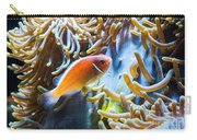 Clown Fish - Anemonefish Swimming Along A Large Anemone Amphiprion Carry-all Pouch