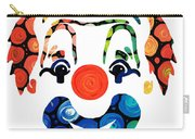 Clownin Around - Funny Circus Clown Art Carry-all Pouch by Sharon Cummings