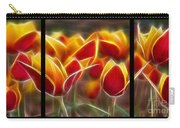 Cluisiana Tulips Triptych  Carry-all Pouch by Peter Piatt
