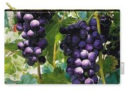 Clusters Of Red Wine Grapes Hanging On The Vine Carry-all Pouch