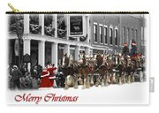 Clydesdale  Team Christmas Card Carry-all Pouch